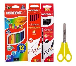 Set Escolar Colores X12+ 12 Lapice - Unidad a $4350