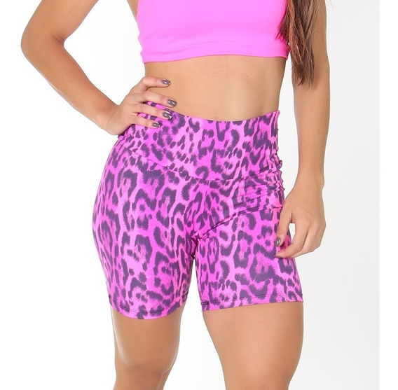 Kit 6 Shorts Suplex Plus Size Estampada Ou Lisa Leg Academia
