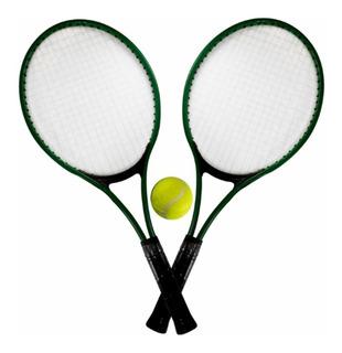 Kit C/2 Raquetes De Tenis C/ Bolinha Diversão 53 Cm Quadra