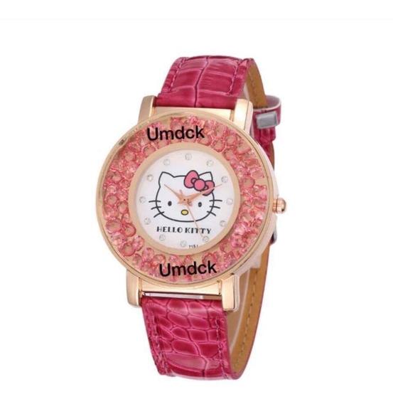 Reloj Hello Kitty Cristales Flotantes Swarovski +regalo E