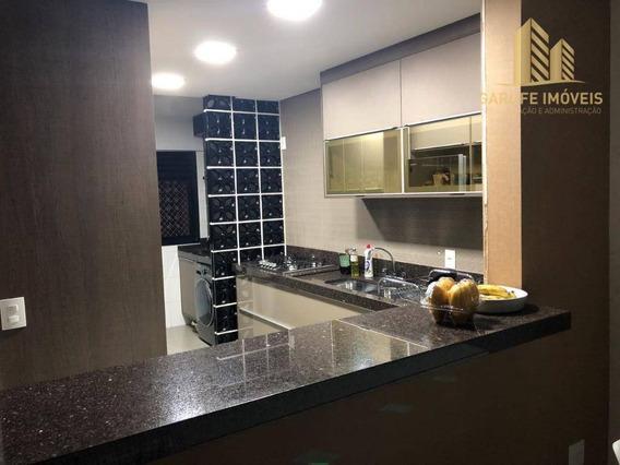Apartamento Com 2 Dormitórios À Venda, 74 M² Por R$ 530.000 - Jardim Aquarius - São José Dos Campos/sp - Ap0807