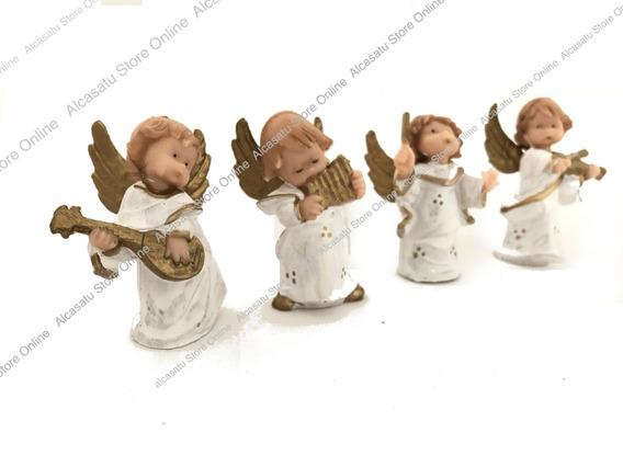 Set 4 Angeles Bebes Musica Souvenirs Angel Souvenirs