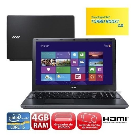 Laptop Notebook Acer Aspire E1 572-6 Win10 I5 Hd 500gb 6gb