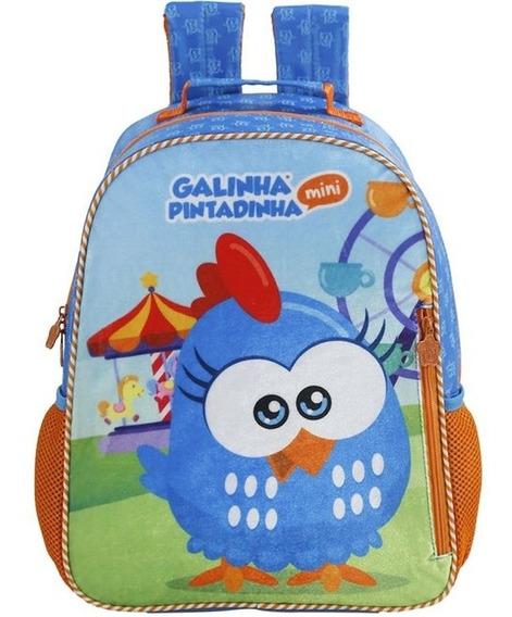 Mochila Infantil Galinha Pintadinha De Costas Grande