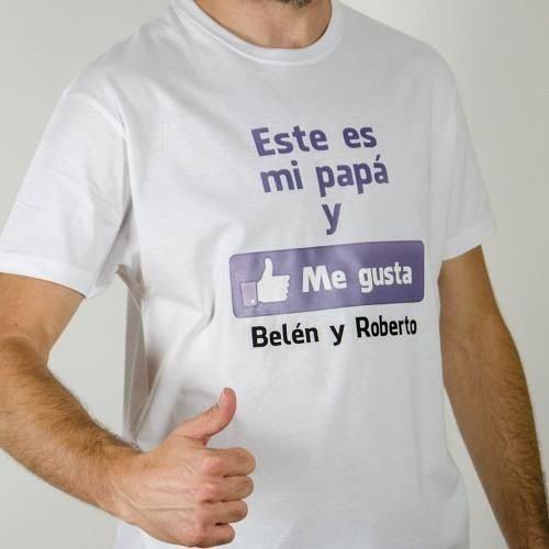 Playeras Personalizadas Para Papá Mod. 7 Like Facebook