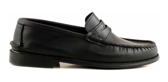 Zapato Hombre Mocasín Cuero Briganti Goma Confort Hcmo00473