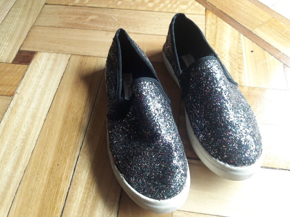 Zapatillas Panchas Con Brillo Talle 32