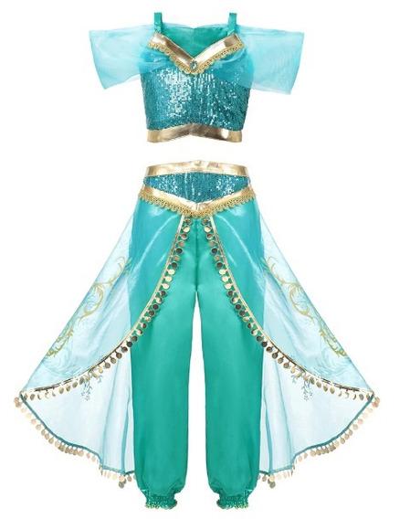 Vestido Fantasia Princesa Alladim Aladim Jasmine