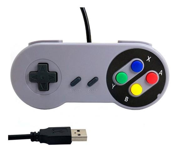Controle Super Nintendo Snes Usb Pc Emulador Famicon Raspb2
