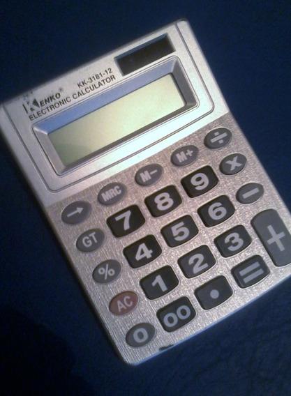 Calculadora Kenko 12 Dígitos, Solar Y A Pila