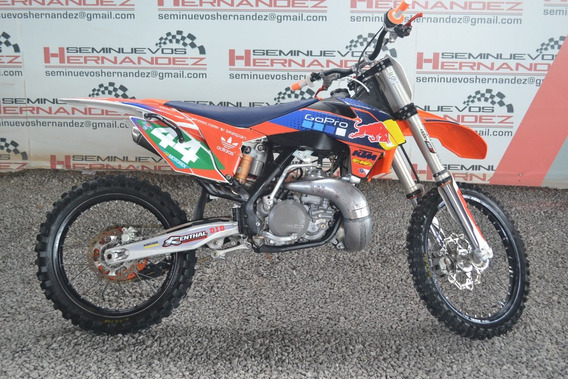 Moto Cross Ktm Modelo 2016 Color Naranja