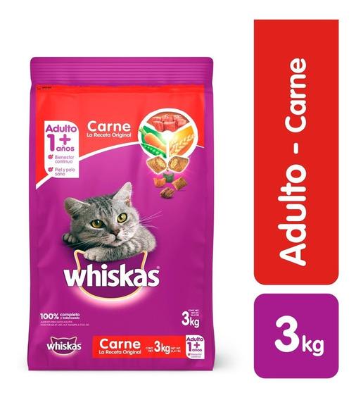 Comida Para Gatos Whiskas Carne 3 Kg - kg a $15833