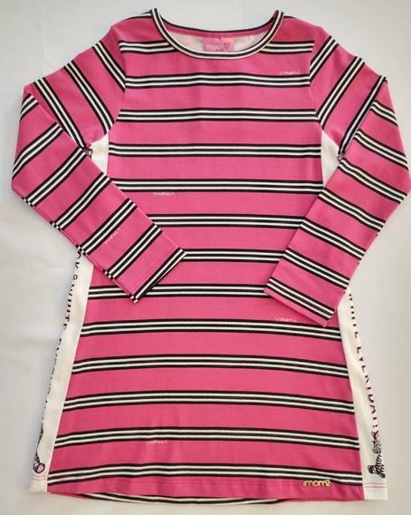 Vestido T-dress Listrado Infantil Momi J2694 Criança