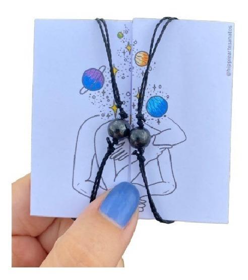 Par De Pulseiras Conexão - Hematita Imantada (magnetica)