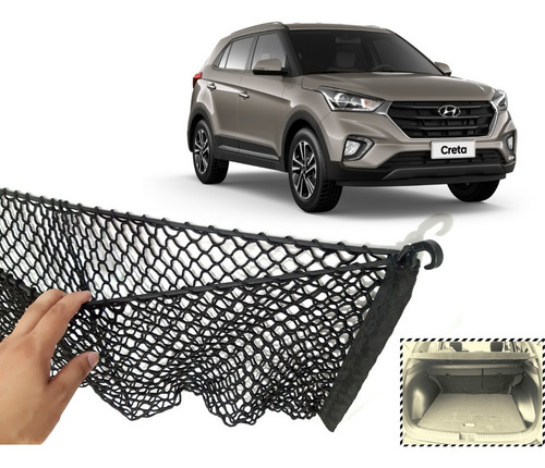 Acessório Porta Malas Hyundai Creta 2020 Rede Porta Objeto