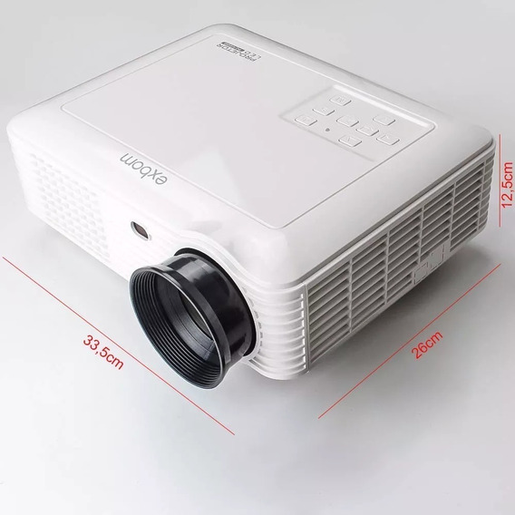 Projetor Led Portatil Hdmi Usb Wifi 1080p Bivolt Pj-v200