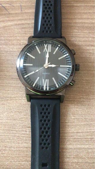 Relógio Masculino Estilo Social Pulseira Silicone Garantia