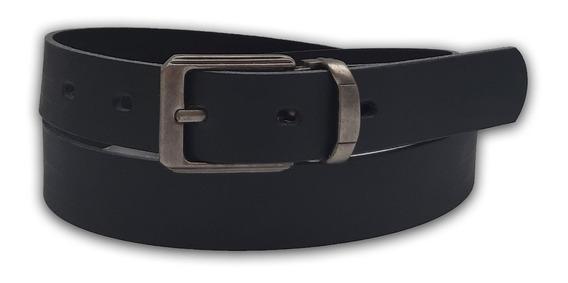 Cinturon Cinto Hombre Liso De Cuero Reconstituido