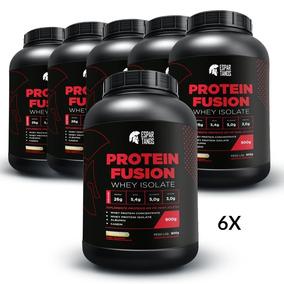 6x Protein Fusion Whey Isolate 900g - Kit Atacado Cx Fechada