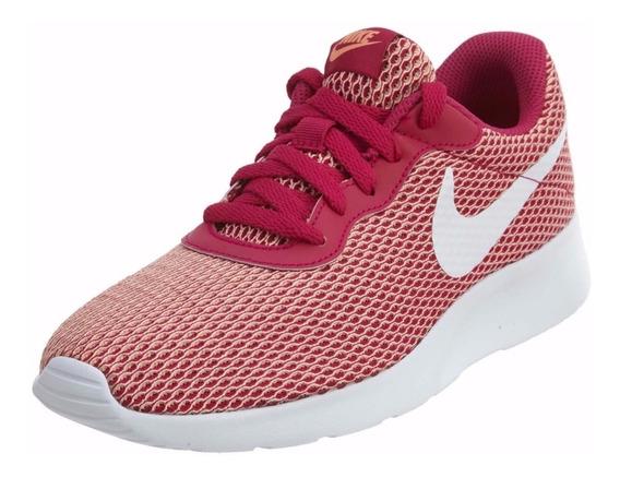 Tenis Nike Tanjun Dama Beige Y Rosa Mujer 921668 Y 844908