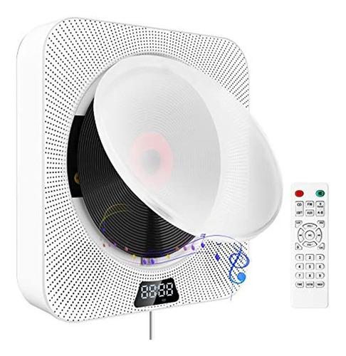 Imagen 1 de 7 de Discmans Con Bluetooth/portátil Con Radio Fm, Color Blanco