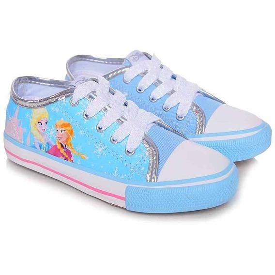 Tênis Infantil Canvas Low Frozen Azul - Disney