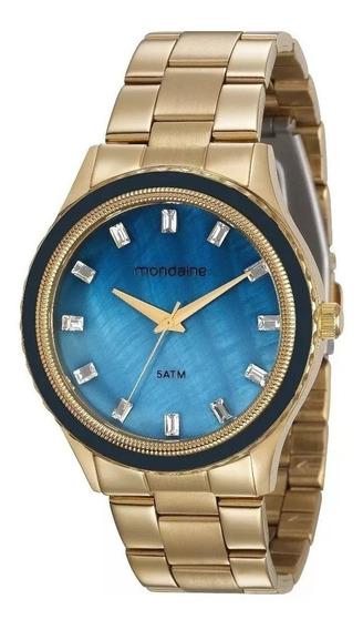 Relógio Dourado Mondaine Feminino 78747lpmvds3 Analógico