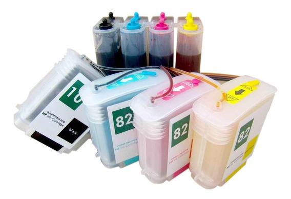 Bulk-ink Hp 111 111r Hp111 Designjet Plotter + 2 Litro Tinta