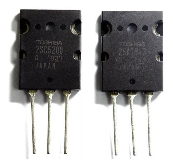 5 Pares Dos Transistores 2sa1943 + 2sc5200 Saída De Som