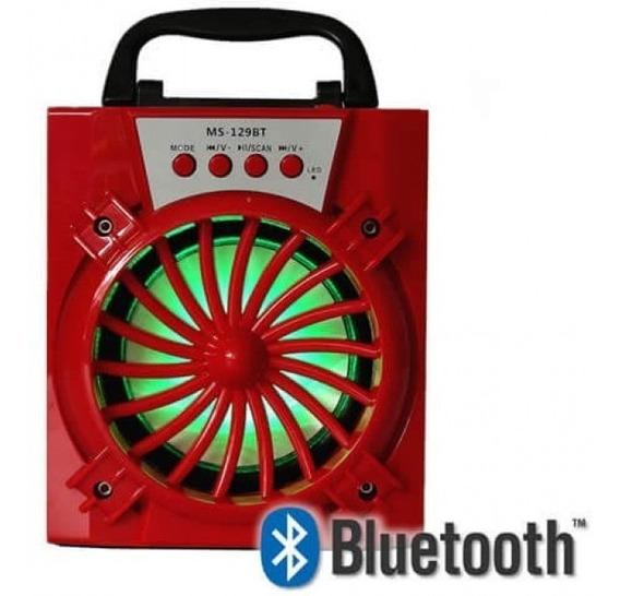 Caixa De Som Portátil Bluetooth Ms-129bt - Cores Sortidas
