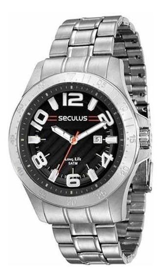 Relógio Seculus Masculino Prateado Analogico 28806g0svna1
