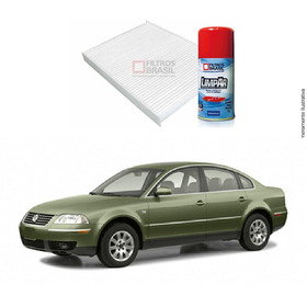 Kit Filtro Ar Condicionado Higienizador Vw Passat 00/05