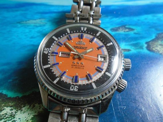 Orient King Diver Cal 1942 2 Janelas Orange Raro Nf Garantia