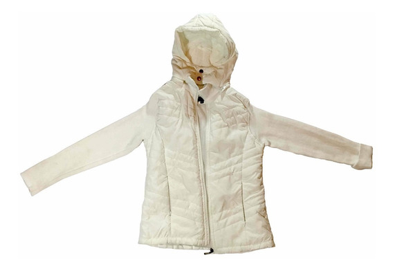 Jaqueta Branca Alaniz Com Capuz Feminina Outono Inverno Frio