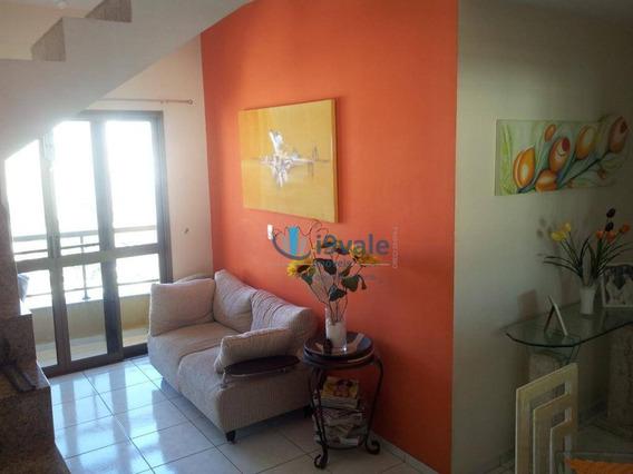 Cobertura Com 3 Dormitórios Para Alugar, 154 M² Por R$ 3.500/mês - Jardim Aquarius - São José Dos Campos/sp - Co0041