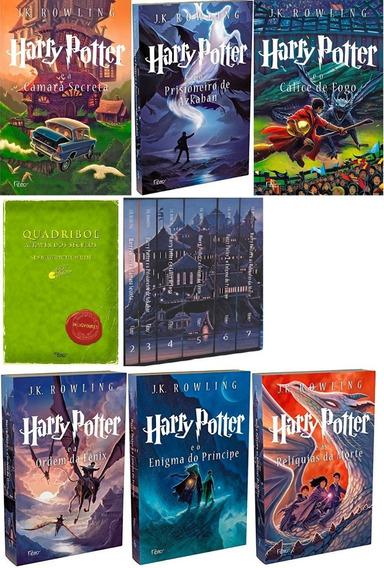 Coleção Harry Potter Livros 2 Ao 7 + Quadribol. Tudo No Box!