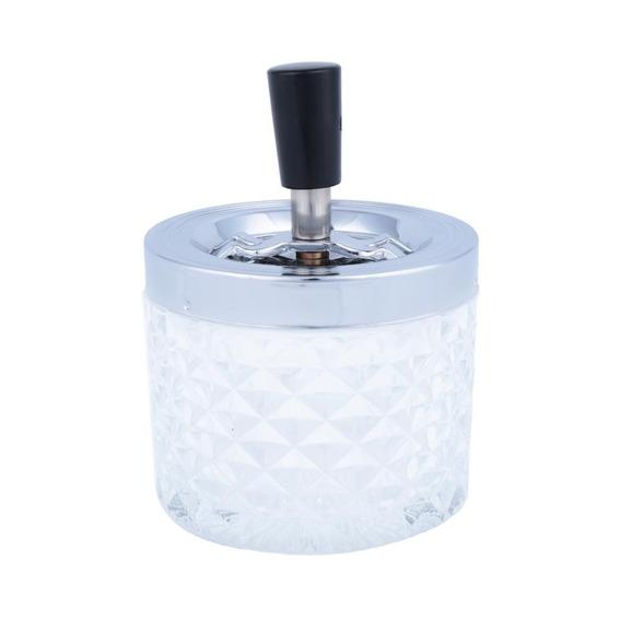 Cinzeiro Ornamental Vidro Losangos Gde 9,5 X 9,5 X 13 Cm
