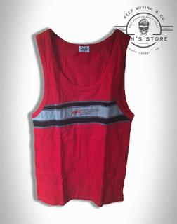 Camiseta Masculino Regata Vermelho Dolce & Gabbana