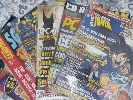 Coleção Revistas De Jogos E Detonados Playstation E Cd Rom