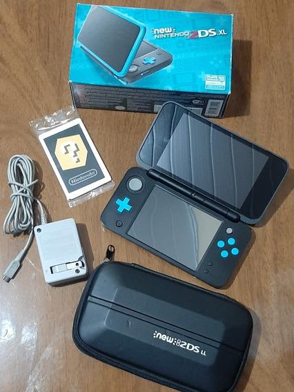 New 2ds Xl Desbloqueado+cartão 64gb +muitos Jogos