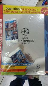 Álbum Capa Dura Uefa Champions League 17-18 Com 10 Pctes