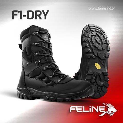Coturno / Bota Tatico Feline F1 Dry - Impermeável Top Melhor