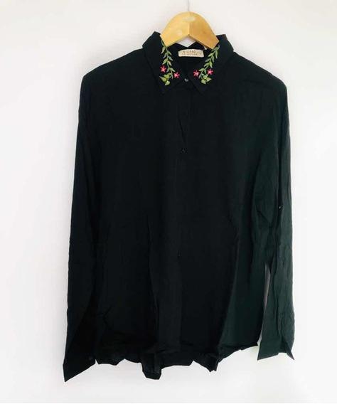 Camisa Talle Grande De Fibrana Bordada