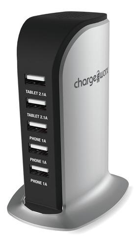 Cargador Usb, Charge Worx, De Escritorio 5 Puertos P/celular