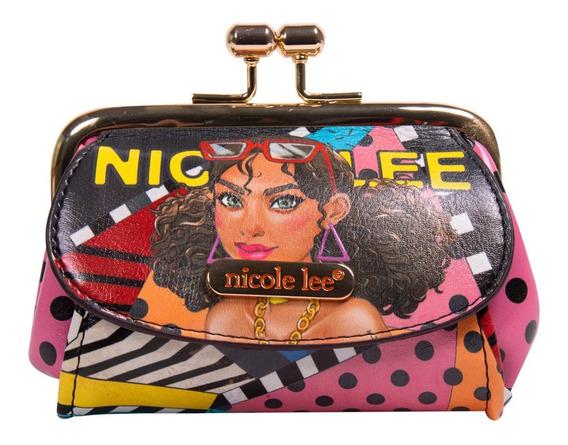 Monedero Kisslock Nicole Lee Con Bolsillos Laterales Fw19