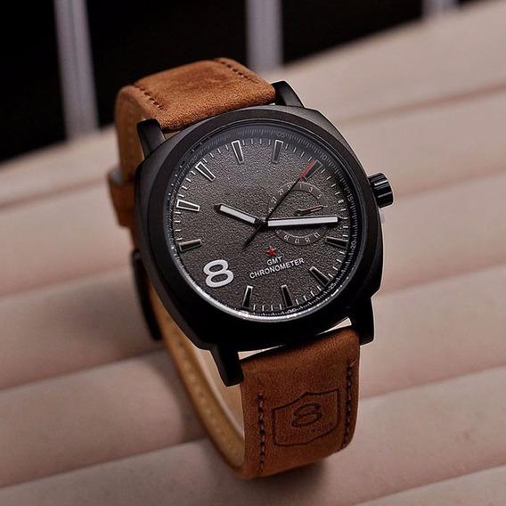 Relógio Masculino Design Esportivo Pulseira Couro Barato