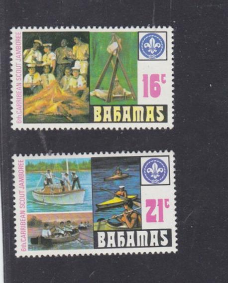 1977 - Jamboree Movimiento Boy Scouts- Bahamas (serie) Mnh