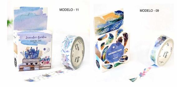 7 Kit Washi Tape Fita Adesiva Decorada Importada Original