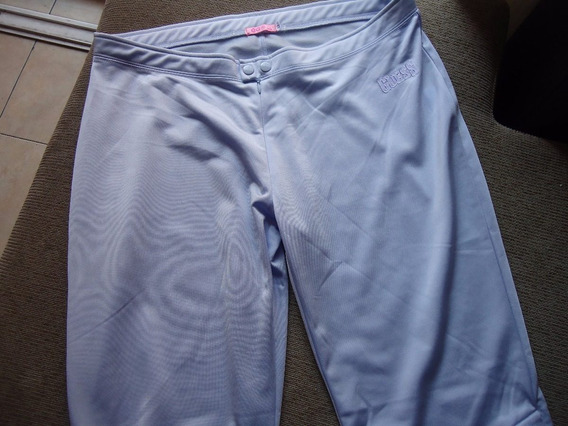 Pantalón Deportivo Color Lila Talla Xl Grande Con Botones Us