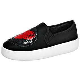 Zapatos Sneaker Loafer Been Class Dama Textil Neg T62897 Dtt